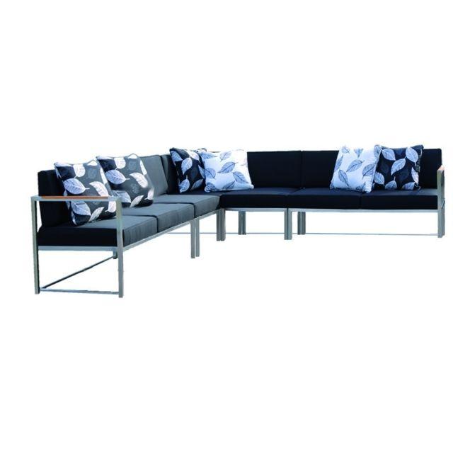 Jan Kurtz Canapé d'angle Lux Lounge - Variante 3 - acier inoxydable - taupe