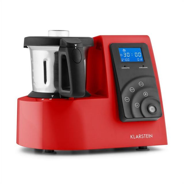 KLARSTEIN Kitchen Hero Robot de cuisine 9 en 1 Thermos 2l 600/1300W -rouge