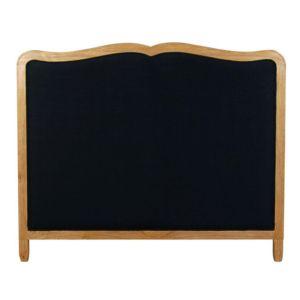 mathilde et pauline t te de lit en bois et en tissu clemence noir 140 cm nccm x 0cm pas. Black Bedroom Furniture Sets. Home Design Ideas