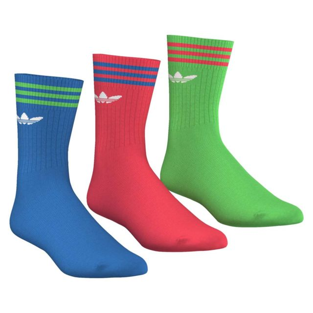 Adidas originals Chaussettes Solid Crew Socck X3 pas