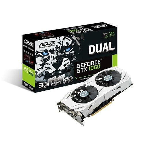 ASUS GeForce DUAL GTX 1060 3GB non OC