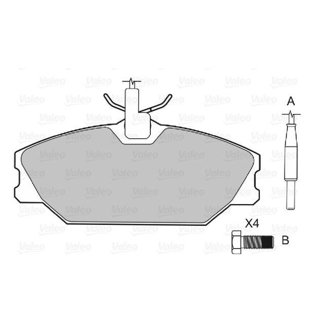 valeo plaquette de freins avant renault megane i 2 0 16v 147cv avant 03 99 pas cher achat. Black Bedroom Furniture Sets. Home Design Ideas