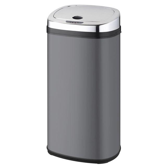 KITCHEN MOVE poubelle automatique 42l gris/inox - bat-42ls02a grey ss