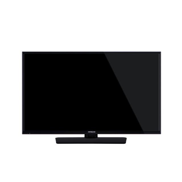 """Hitachi TV LED - 23.6"""" 59.9 cm 24F501HB4T05 - Noir Taille de l'écran : 23.6"""" ( 59.9 cm ) - Tuner DVB-T-C + T 2 - Entrées HDMI : 2 - Port USB - Puissance sonore 5 W - Télécommande - 1 prise casque - Verrouillage parental."""
