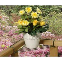 Astuceo - Support pot de fleur pour balcon - lot de 2