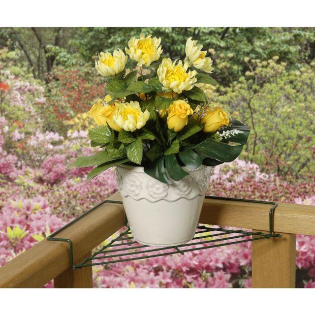 astuceo support pot de fleur pour balcon lot de 2. Black Bedroom Furniture Sets. Home Design Ideas