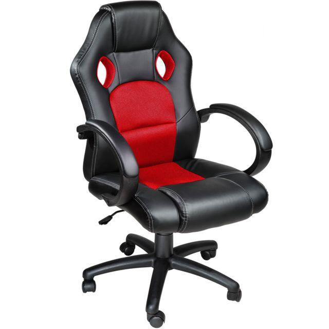Pivotante Sport Rouge Réglable Noir De Bureau BureauFauteuil Chaise Racing Épais Hauteur Rembourrage qzUMLSpVG
