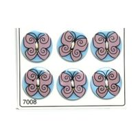 No Name - 6 Boutons Résine - Loisirs Créatifs - ref 7008