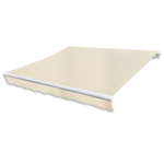 Vidaxl - Store banne en toile Blanc crème 3 x 2,5 m Cadre non inclus