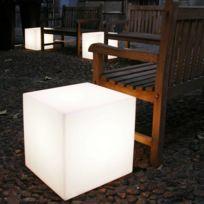Slide - Cubo - Cube lumineux d'extérieur Blanc H50cm - Luminaire d'extérieur designé par