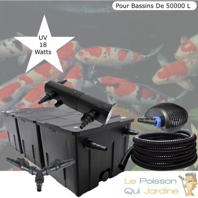 Le Poisson Qui Jardine Kit Filtration Complet, Uv 18W, Pour Bassins De Jardin De 50000 L