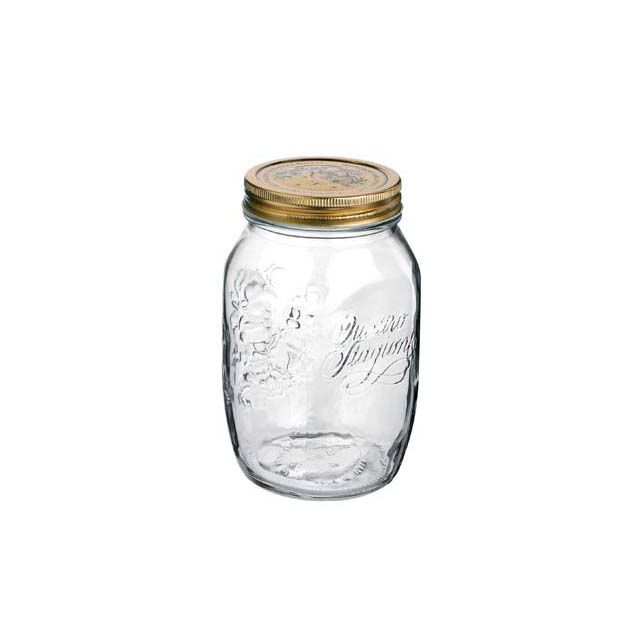 bormioli rocco set de 12 bocaux pots conserve 1 l en verre avec couvercles 86mm quattro. Black Bedroom Furniture Sets. Home Design Ideas