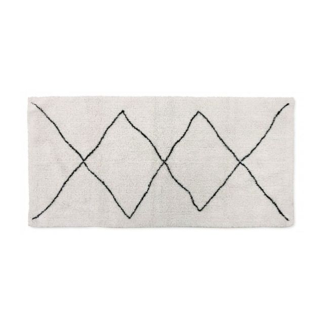 Wadiga Tapis Style Tapis Berbere Coton Noir Et Blanc Grands