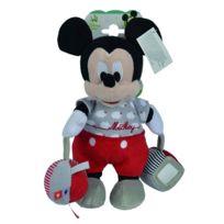 Nicotoy - Peluche d'activités éveil bébé Mickey 29 cm - Disney Baby
