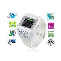 Yonis - Montre téléphone Dual Sim lecteur mp3 Micro Sd Usb Blanc