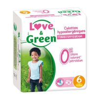Love And Green - Love & Green - Culottes Apprentissage Ecologiques Hypoallergéniques 0% T6 x 16