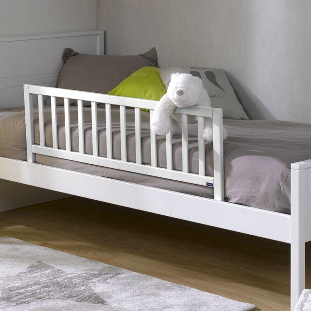 ik idkid 39 s barriere de lit enfant en bois blanc 120cm. Black Bedroom Furniture Sets. Home Design Ideas