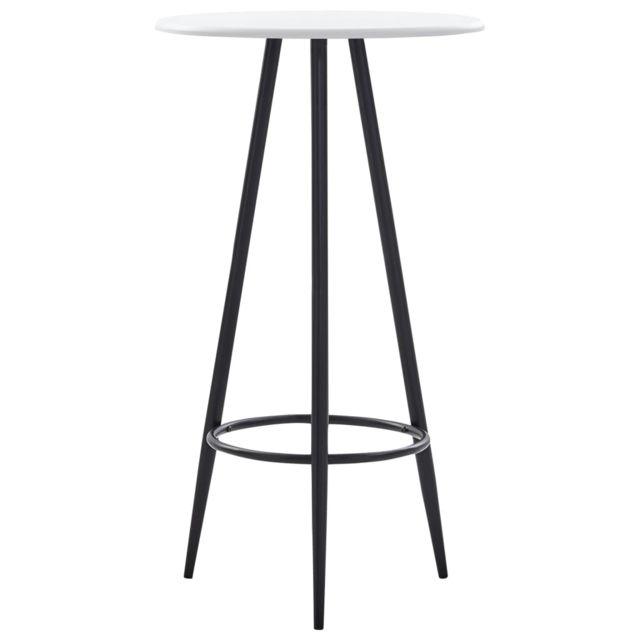 Esthetique Tables edition Le Caire Table de bar Blanc 60 x 107,5 cm MDF