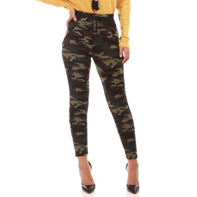 Cher Vente Achat Camouflage Lamodeuse Vert Imprimé Pas Jogging qxwFqXUH1