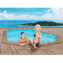 HABITAT ET JARDIN - Piscine bois Rio - 5.60 x 3.70 x 1.24 m