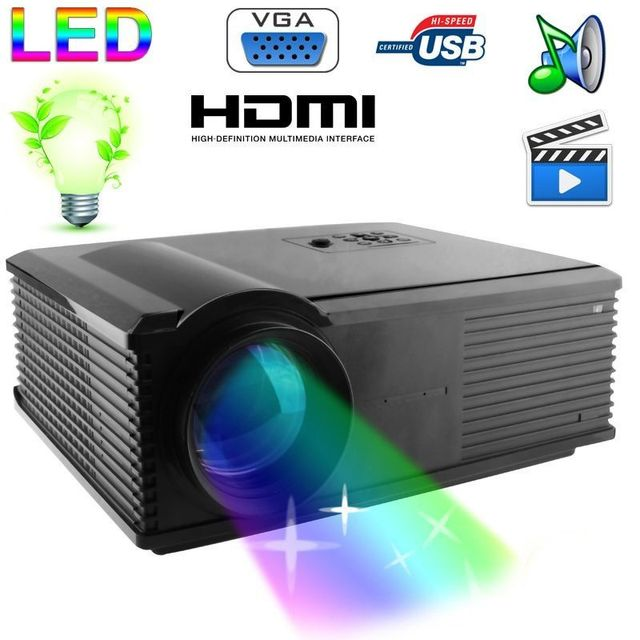 Yonis Vidéoprojecteur Led 95W 2800 Lumens Full Hd 1080P Home cinema Noir
