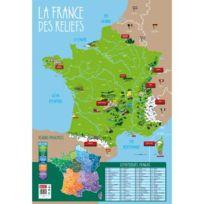 Bouchut Grandremy - poster pédagogique en pvc 76x52cm, les montagnes, les fleuves et rivières