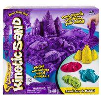 Kinetic Sand - Coffret château de sable à modeler - violet - 6024397