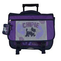 Chipie - Cartable à roulettes 3 compartiments Kandolph 41cm violet