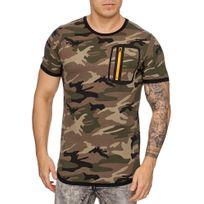 Marque Generique T shirt fashion camouflage militaire T shirt camo 881 vert
