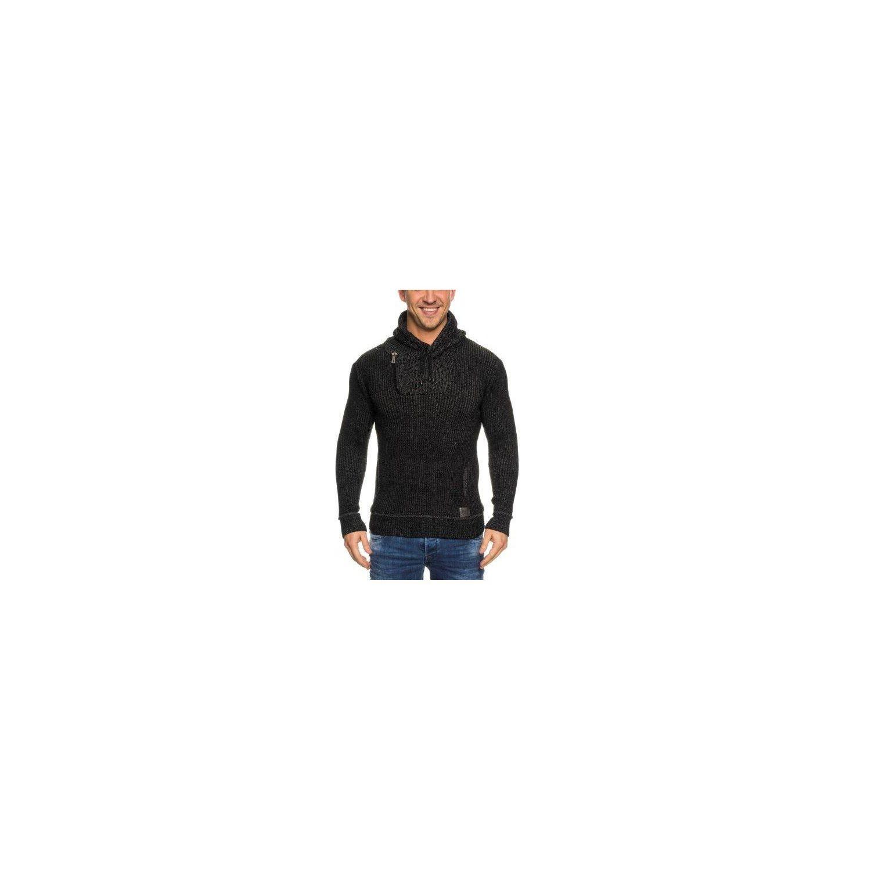 Soldes Beststyle - Pull laine homme noir col zippé habillé XL - pas ... fa21623940f7