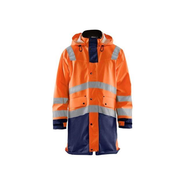 BLAKLADER Veste de pluie Haute visibilité étanche et coupe-vent