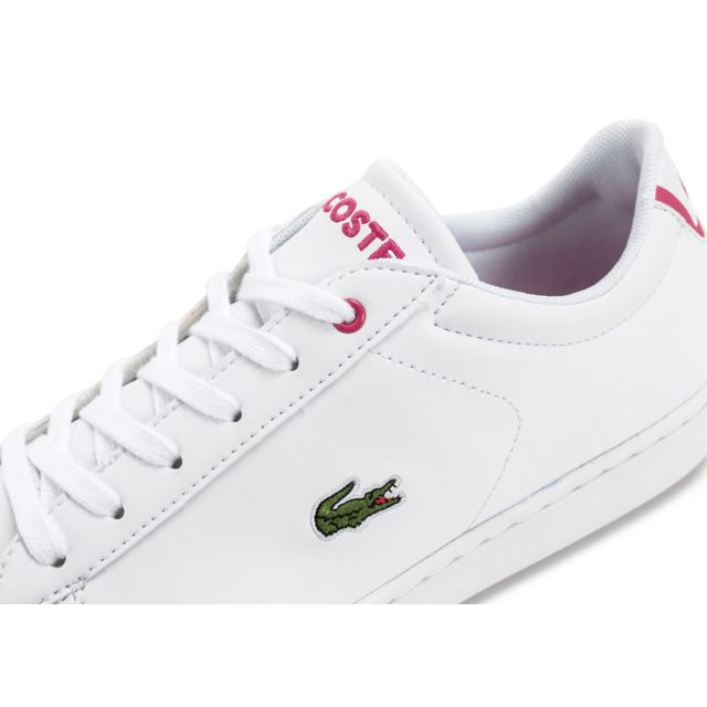 high quality save up to 80% wholesale outlet Lacoste - Carnaby Evo Blanche Et Rose - pas cher Achat ...