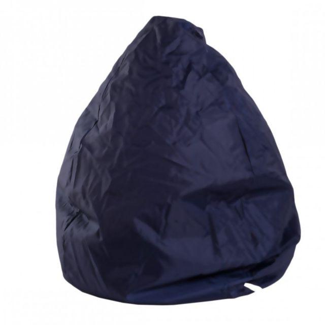 Pouf Poire Fauteuil Bleu Foncé Confortable Relex Design Chambre Sejour