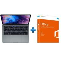 APPLE - MacBook Pro 13 Touch Bar - 512 Go - MR9R2FN/A - Gris sidéral + Office Famille & Etudiant 2016 Mac