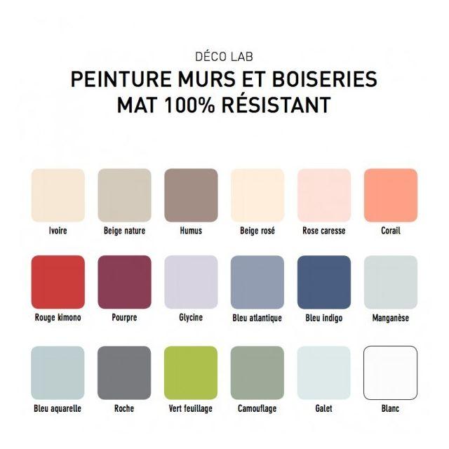 Déco Lab Peinture Mat 100 Résistant Bleu Indigo