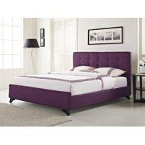 Beliani - Lit en tissu violet - lit double 180x200 cm - sommier inclus - Ambassador