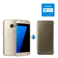 Samsung - Galaxy S7 Or SGH-GALAXY-S7-OR + - Clear View Cover pour Galaxy S7 - Or EF-ZG930CFEGWW