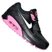 Nike - Basket - Femme Ou Junior - Air Max 90 99 - Noir Blanc Rose