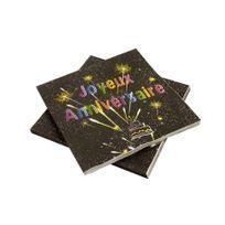 1001DECOTABLE - Serviettes en papier anniversaire Chic x20