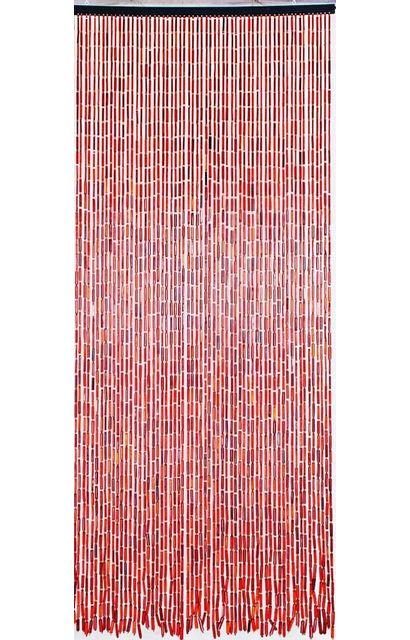 MOREL - Rideau en batonnets de bambou et perles de bois Brun - pas ...