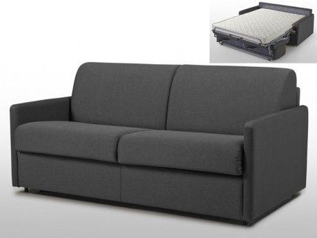 marque generique canap 3 places convertible express en tissu calife gris couchage 140 cm. Black Bedroom Furniture Sets. Home Design Ideas