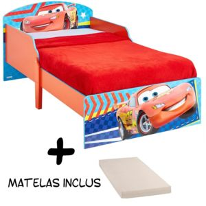 bebe gavroche lit enfant cars flash mcqueen disney matelas blanc rouge 140cm x 70cm pas. Black Bedroom Furniture Sets. Home Design Ideas
