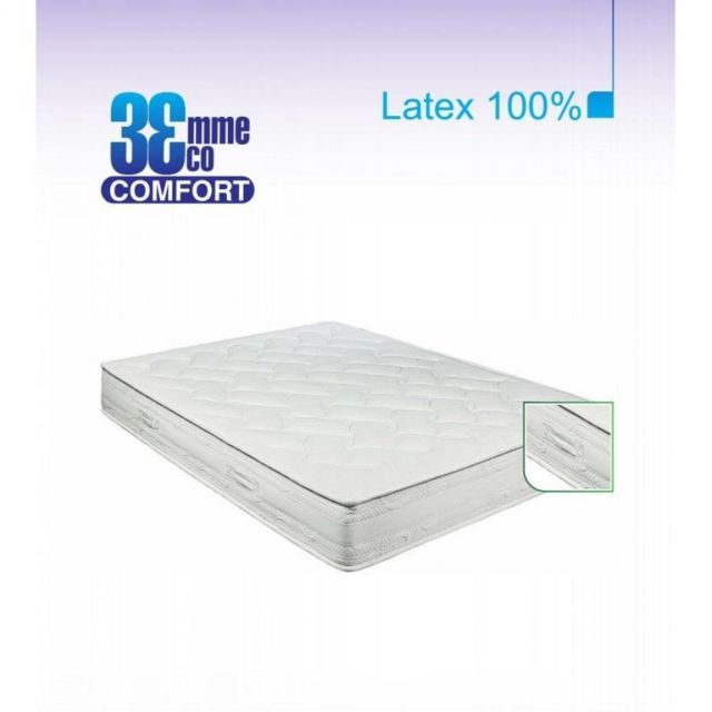 Inside 75 Matelas Eco-Confort 100% latex 7 Zones 90 200 20