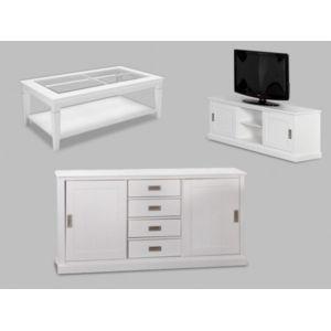 Vente unique pack bord de mer buffet meuble tv et for Table basse style bord de mer