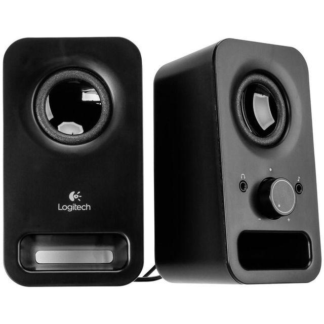 LOGITECH Haut-parleur 2.0 Z150 - 980-000814 - Noir Avec une puissance de crête de 6 watts, les haut-parleursLogitech Multimedia Speakers Z150offrent un son stéréo clair et puissant dont vous pouvez profiter chez vous. Simpl