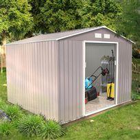 Concept Usine - Sancy 7.06 m² : abri de jardin en metal anti-corrosion gris