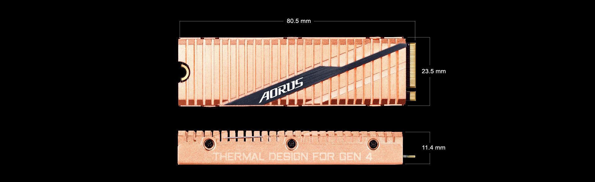AORUS Gen4 - 500 Go - M.2 2280 - PCI-Express 4.0 x4, NVMe 1.3