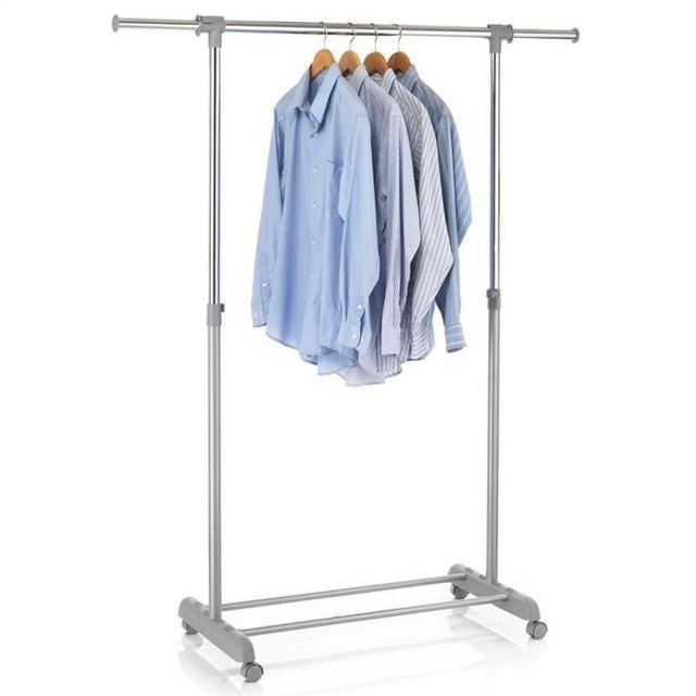 idimex portant simple v tements sala penderie sur roulettes vestiaire avec 1 barre. Black Bedroom Furniture Sets. Home Design Ideas