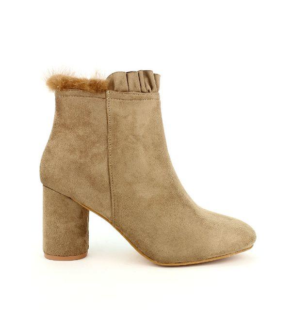 6687451e127694 Cendriyon - Bottine Taupe Studio H - pas cher Achat / Vente Boots femme -  RueDuCommerce