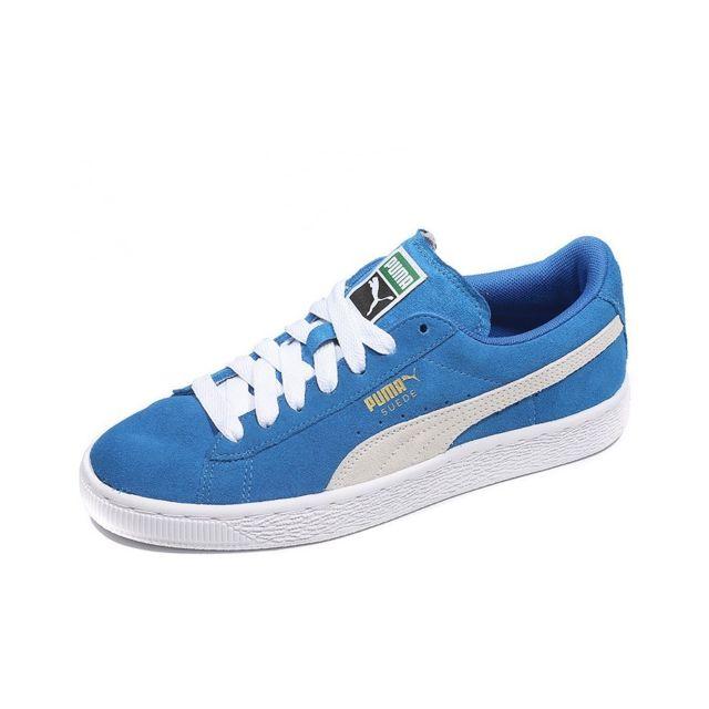 Puma Chaussures Suède Bleu Garçon Multicouleur 35.5 pas
